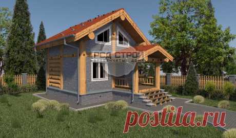Проекты домов из бревна - примеры и фото