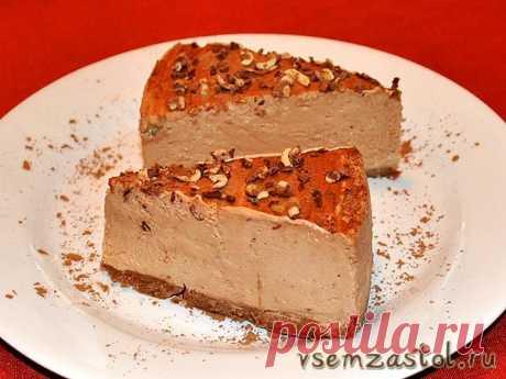 Торт-суфле шоколадно-творожный без выпечки » Всем За Стол!