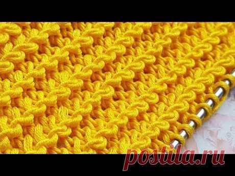 Knitting pattern ❤ Узор спицами ❤ strickmuster ❤ tricot ❤ how to knit ❤  tricô ❤  örgü deseni बुनना