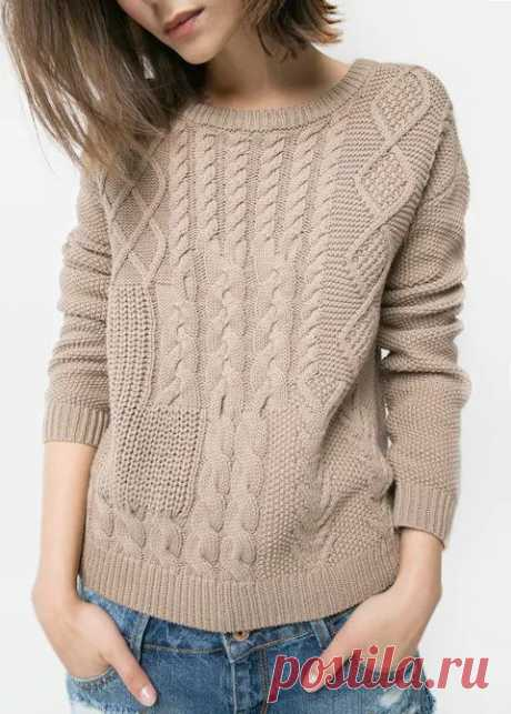 18 дизайнерских свитеров спицами с описанием вязания