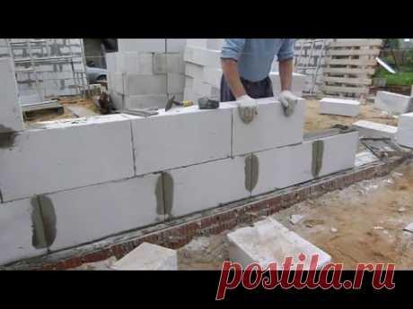 кладка газо-пено блока в полный шов..супер стрим от Нивка111  18+