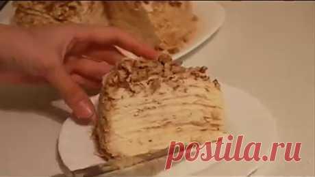 Торт на сковороде с заварным кремом (cake pan). Просто, быстро и вкусно!
