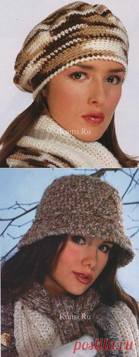 Вязание для женщин / Шапки береты шарфы