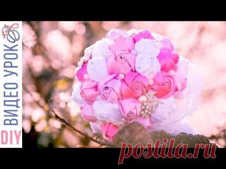 СВАДЕБНЫЙ БУКЕТ брошь в стиле КАНЗАШИ / Kulikova Anastasia - YouTube