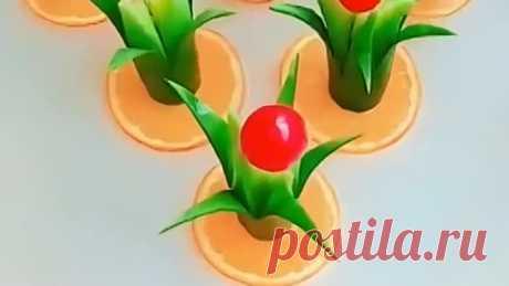 Мастер-класс...Декор блюд из овощей