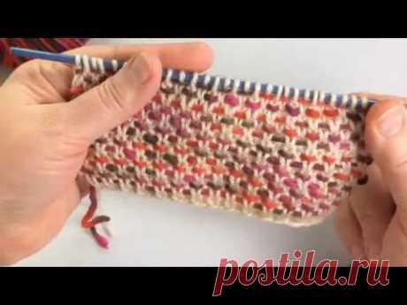 Цветной узор для детских изделий / Вязание спицами / Multicolor Pattern for Baby or Ladies Cardigan