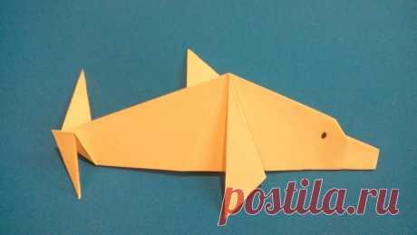 Оригами дельфин. Origami Dolphin. 折纸海豚 — YouTube - IskusstvoOrigami - Medium