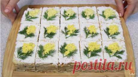 Закусочное Пирожное МИМОЗА - РЕЦЕПТИК