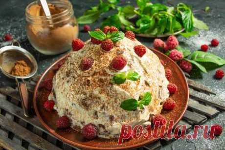 Вкусный торт «Панчо с малиной» из простых и доступных продуктов. Пошаговый рецепт с фото — Ботаничка.ru