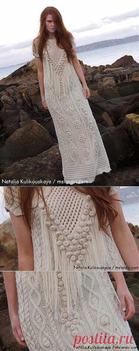 Дизайнерское вязаное платье от Натальи Куликовской | Вяжем с Ланой