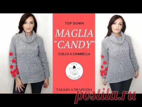 """TUTORIAL: Maglia """"Candy"""" uncinetto 🤍la fata tuttofare🤍"""