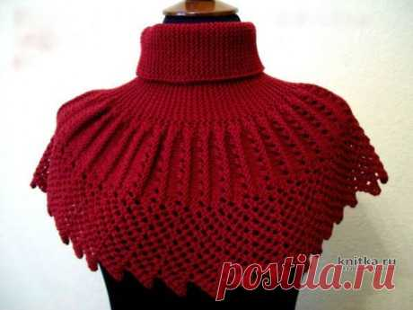 Вязанная спицами шеегрейка, видео-урок, Вязание для женщин