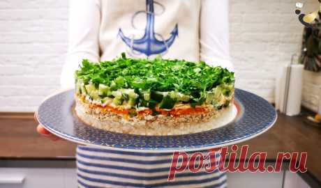 Попробовал в гостях вкусный салат «Норвежский роман», мне понравился. Приготовил дома для семьи, все остались довольны, делюсь | MEREL | KITCHEN | Яндекс Дзен