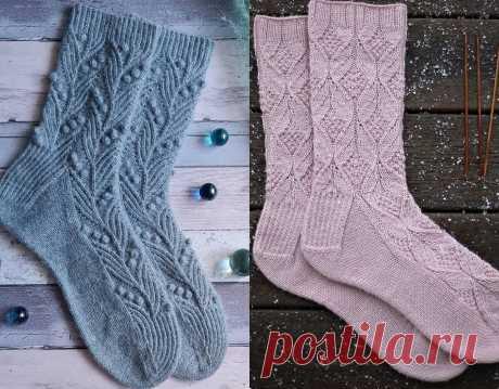 Узоры для носков спицами: 12 простых и красивых вариантов со схемами | Вяжем вместе! | Яндекс Дзен