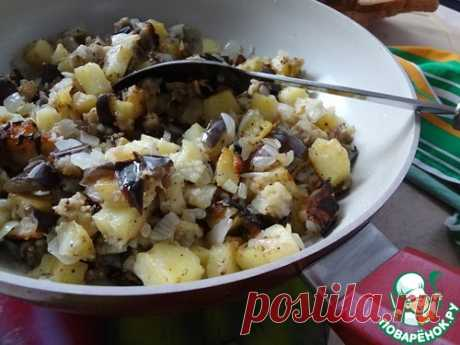 Баклажаны с картофелем по-деревенски – кулинарный рецепт