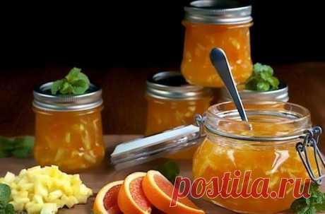 Ароматное варенье из ревеня с апельсином на зиму - с приятной кислинкой! Гурманы оценят!