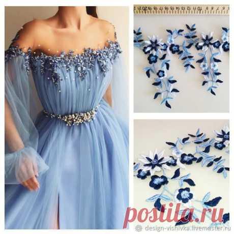 Объемная вышивка для свадебного платья – заказать на Ярмарке Мастеров – IGKVXRU | Платья свадебные, Москва