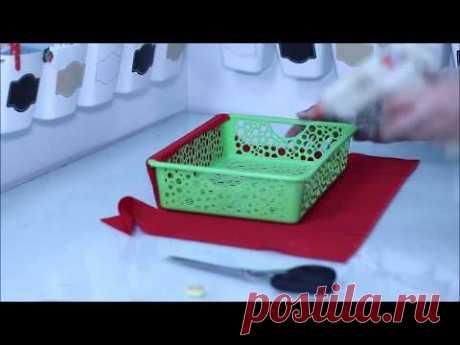 شوفي شنو عملت بهاذ السلة البلاستيكية الرخيصةrecycle plastic basket