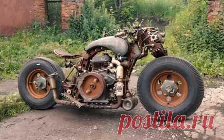 Уникальный мотоцикл из города самоваров и пряников. Самоделка тульского мастера | Oldtimer weekly | Яндекс Дзен