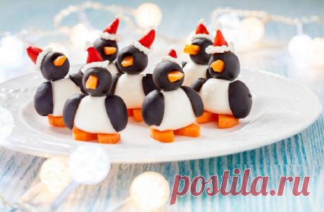 """""""Забавные пингвинчики"""" - веселая закуска на праздничный стол   Вкусные рецепты   Яндекс Дзен"""