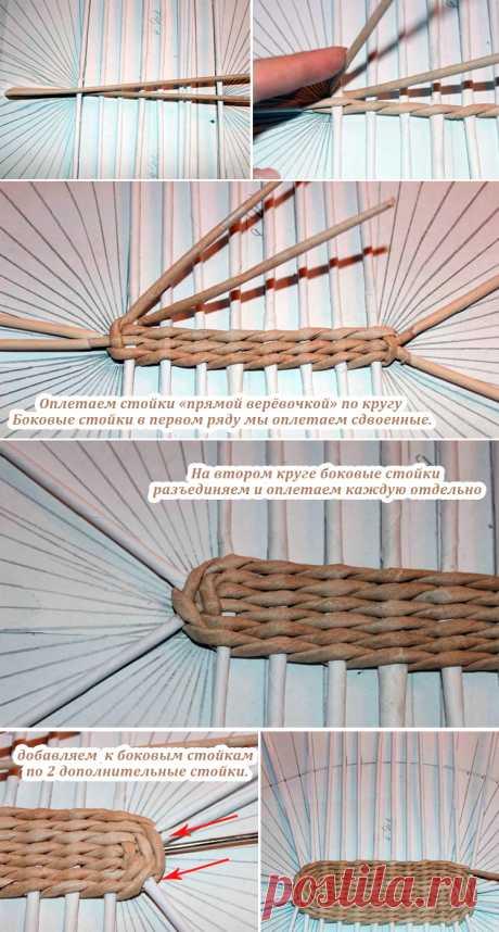 Плетение из газетных трубочек - Пошагово для начинающих - Новое за последние 3 месяца - Виды плетения - Видео уроки