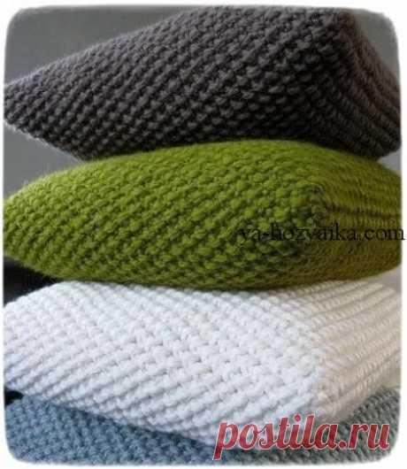 Подушка спицами схемы. Видео урок по вязанию подушки спицами