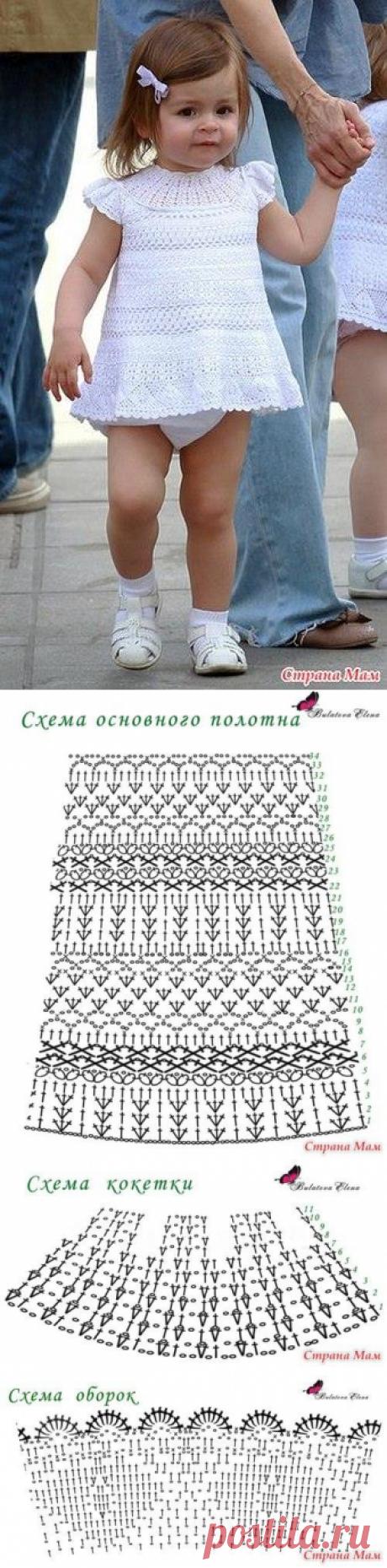 Для тех кто вяжет: платье для маленькой девочки