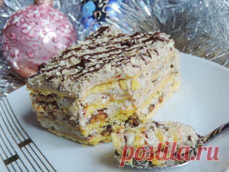 Торт «Лакомка» с кремом из халвы - Леди Mail.Ru