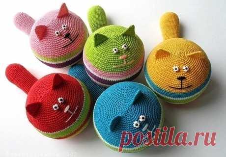 Вяжем пузатых котиков, игрушки антистресс из категории Интересные идеи – Вязаные идеи, идеи для вязания