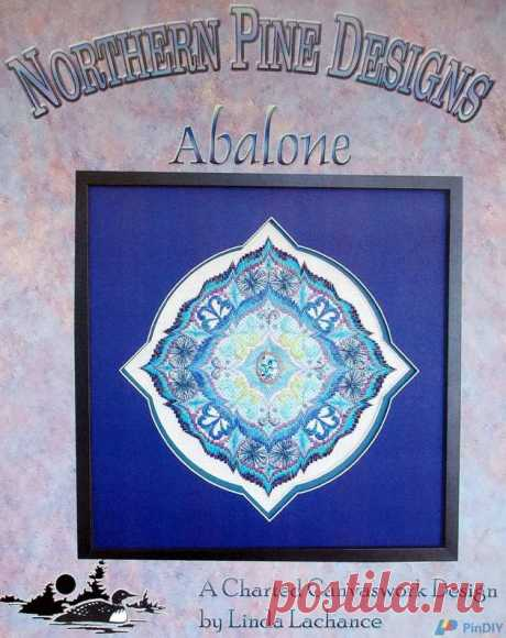 Northern Pine Design Abalone A Charted Canvaswork Design Linda Lachance