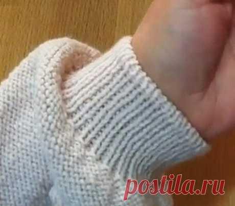 Как закрыть резинку 1 на 1 спицами эластично по кругу? - svjazat.ru