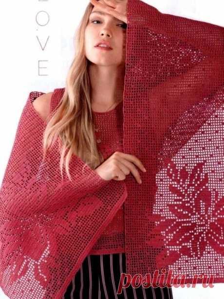 Филейная коллекция ярких моделей крючком. | Asha. Вязание и дизайн.🌶 | Яндекс Дзен