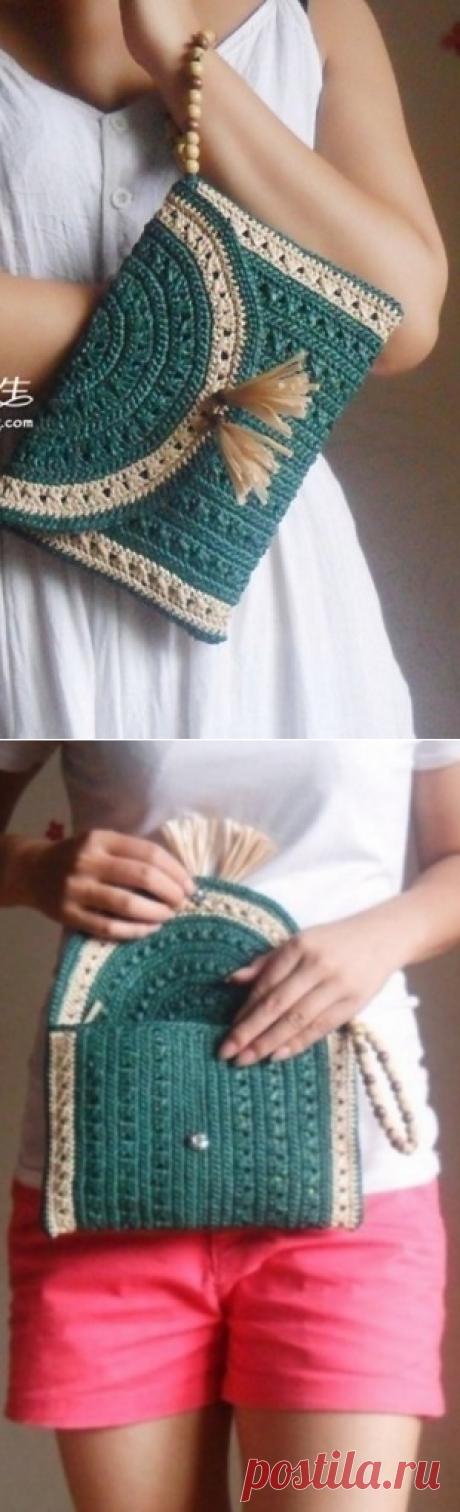 Вязание клатча крючком
