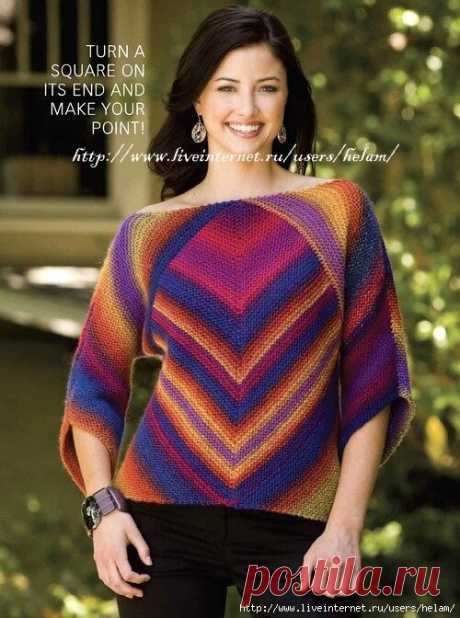Пуловер из секционки. Вяжем онлайн! - Вяжем вместе он-лайн - Страна Мам