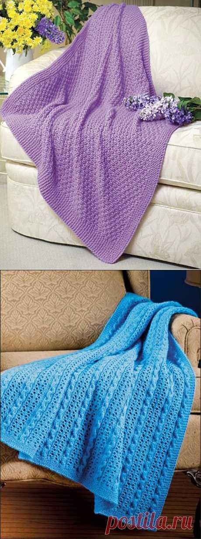 Вязаные покрывала и пледы для дома и пикника | Knitta.ru — уроки и советы по вязанию