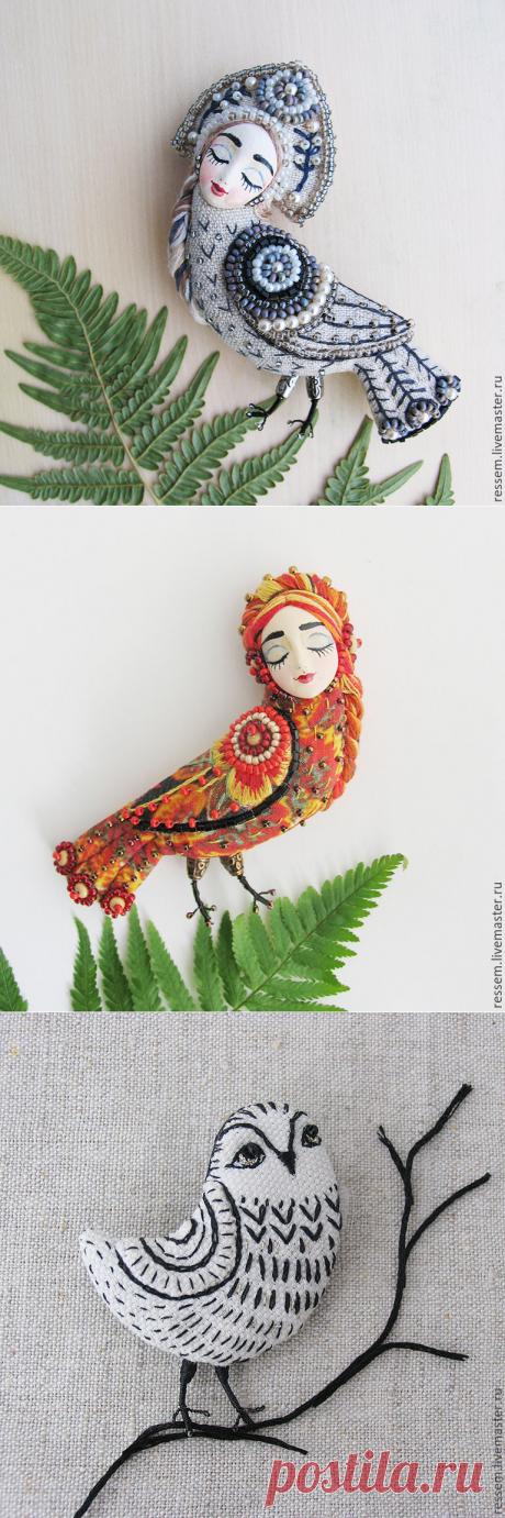 Текстильные броши от Марии Кнутовой