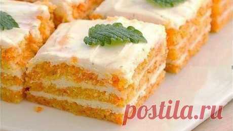 Вкусный морковный торт