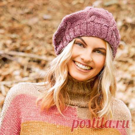 Берет с косами спицами – 12 моделей для женщин со схемами и описанием, видео — Пошивчик одежды