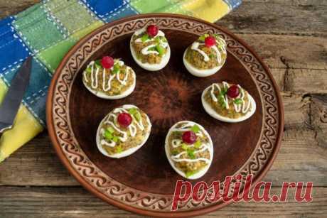Простая закуска из яиц с грибным паштетом. Пошаговый рецепт с фото — Ботаничка.ru