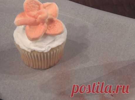 Adornamiento original para la torta: ¡solamente 1 minuto y flor amable es preparado!