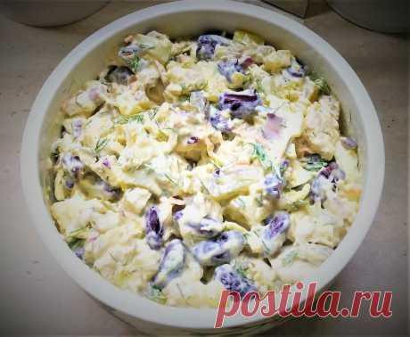 Вкусный и сытный салат, из простых ингредиентов. Оливье больше не захочется.