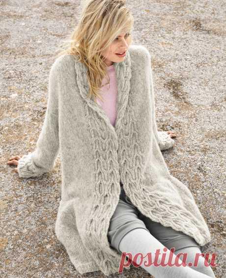 Пальто с рельефными планками - Verena.ru