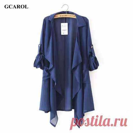 Women Asymmetric Length Sun Protection Coat Casual Fashion Long Thin Open Stitch Jacket Summer Spring Chiffon Coat пиджаки пиджак женский костюм женскийкупить в магазине GCAROL Apparel StoreнаAliExpress