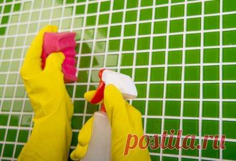 Лимонная кислота и уксус для чистоты кафельной плитки