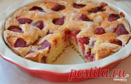 Пирог с клубникой на кефире - пошаговый рецепт с фото на Повар.ру