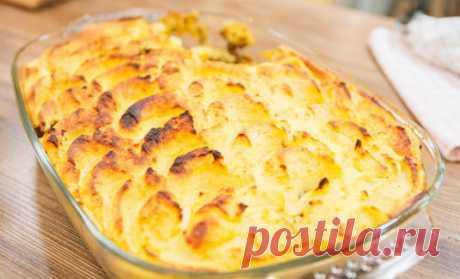 Пастуший пирог с печенкой («Про100 кухня» от 6 мая) Ингредиенты: картофель - 2,2 кг, печень говяжья – 700 г, лук репчатый – 4 шт., масло растительное – 2 ст. л., яйца – 2 шт., масло сливочное – 100 г, молоко – 150 мл, морковь – 2 шт., аджика – 1 ст. л.…