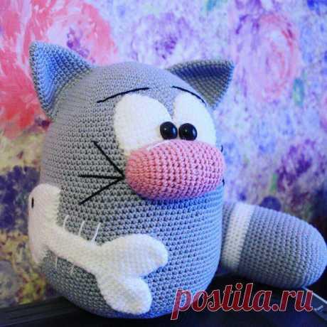 Забавный кот крючком | Схемы амигуруми