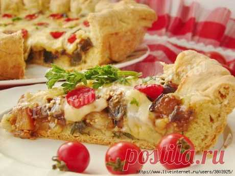 Потрясающе вкусный пирог с баклажанами на кефире - просто, вкусно, недорого ...