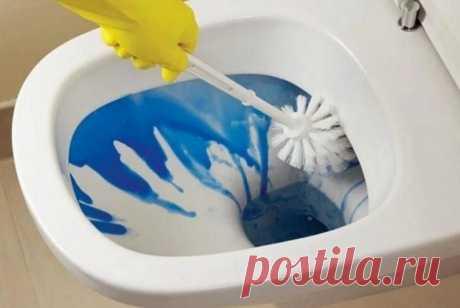 Чем можно отмыть унитаз от ржавчины и известкового налета