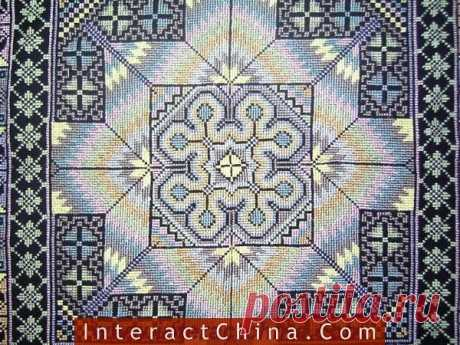 Китайские орнаменты, вышитые счетными швами — Делаем руками